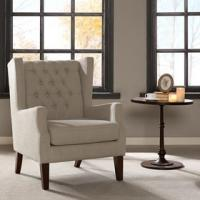 Lounge Arm Accent Chair , Cream Occasional ChairWith Solid Frame Construction