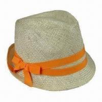 China Women's Wholesale Sinamay Hat with 2 Lines GG Band and Bow on sale