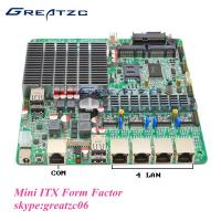 Wholesale MINI Fanless Quad LAN J1800 Motherboard 2 SATA INTEL Bay Trail Motherboard from china suppliers