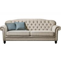 Wholesale 3 Seater Lobby American Style Sofa , 24'' Arm Twin Sleeper Sofa Birch Wood from china suppliers