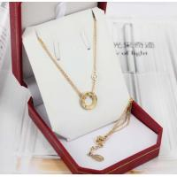 Wholesale 18K Luxury Gold Jewelry Love Necklace 18K Gold Love Ring Pendant with 2 Diamonds B7219500 from china suppliers