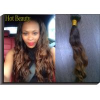 Wholesale Curly Ombre Human Hair Extensions , Customized Virgin Brazilian Hair from china suppliers