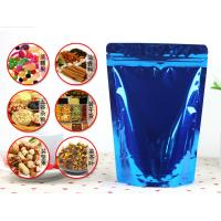 Wholesale Shiny Foil Blue Flexible Foil Ziplock Bags Foil Resealable Bags from china suppliers