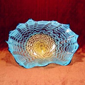 Wholesale Handblown art glass platters, handblown glass wall platters , DJ-9012 from china suppliers