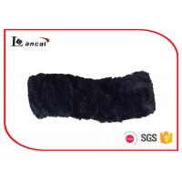 Wholesale Zebra Pattern Fur Cowl Scarf Black Satin Lining Girls Snood Scarf from china suppliers