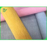 Wholesale Muti - color Flower DIY Double Sided Wrapping Crepe Jumbo Roll Paper 50CM * 2.5M from china suppliers