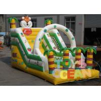 Wholesale Outdoor Coconut Tree And Tiger Custom Inflatable Dry Slides With Free Repair Kit from china suppliers