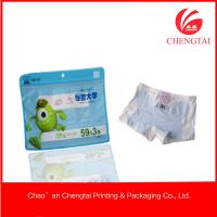 Wholesale Resealable Zippered Plastic Packaging For Clothing Children Underwear Use from china suppliers