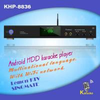 Wholesale Professional black Android HDD KTV jukebox karaoke player ,Support MKV/VOB/DAT/AVI/MPG songs,build-in AGC/AVC from china suppliers