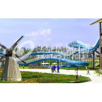 Wholesale Commercial Water Park Slide Fiber Glass Capacity 360 persons / h Water Roller Coaster from china suppliers