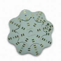 Buy cheap Aluminum Base PCB with Lead-free HASL Surface Finish and 1mm Board Thickness for LED from wholesalers