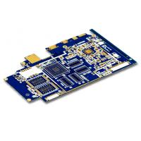 Wholesale Quick Turn PCB Prototype , 6 Layer PCB with Gold Finger  Blue Solder Mask from china suppliers