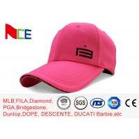 Wholesale Custom Made Simple Adjustable Golf Hats Pink Tall Relaxed Sports Style from china suppliers