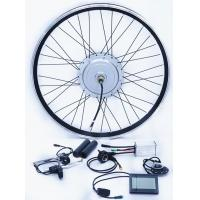 Quality 36v 800w / 48v 1000w front Aluminum Alloy Stator Silver motor wheel with LCD display for sale
