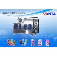 Wholesale Gable Top Carton Filling Machine Automatic Add Cap On the Gable Pack from china suppliers