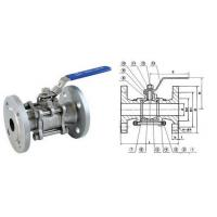 Buy cheap 3/4 Inch 150LB SS304 Full Bore 3PC Flanged Ball Valve With ISO 5211 from wholesalers
