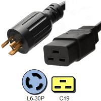 Wholesale 250V 20 Amp 3 Wire Power Cord 12 AWG Lock NEMA L6 30P to IEC C19 from china suppliers