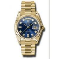 Wholesale Rolex Day-date Blue Automatic 18kt Yellow Gold Mens Watch 118238BLDP from china suppliers