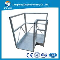 Wholesale L TYPE aluminium alloy / hot galvanized suspended scaffolding / suspending machine from china suppliers