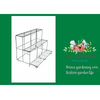 Wholesale Versatile Garden Plant Accessories , Durable Black Outdoor Metal Flower Plant Pot Stand from china suppliers