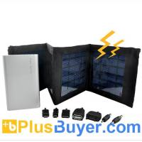 Wholesale Foldable Panels Solar Charger and Battery (4000mAh, 7 Adapters) from china suppliers
