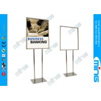 Wholesale Mordern Double Sided Floor Stand Sign Holders Stainless Steel Poster Holder Stand from china suppliers