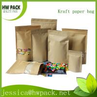 Wholesale stand up kraft zipper bag from china suppliers