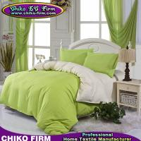 Wholesale Bed Set Soft Color Fadeness Plain Colors AB Side Design Bedding Set from china suppliers