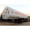 Buy cheap 60M3 Oil Transport Tanker Semi Trailer , Fuel Tank Trailer Heavy Duty 3 Axle from wholesalers