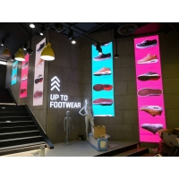 China Easy Moving Advertising Floor Standing Digital Mirror Led Poster Display Screen Panel on sale