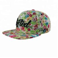 Wholesale Floral Digital Printed Snapback Caps , Snapback Baseball Caps For Women from china suppliers