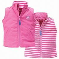Wholesale Children's gilet; 100% polyester outer with PU coating from china suppliers