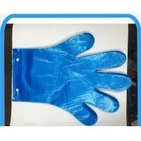 Wholesale Blue Disposable PE Gloves With 2 Holes , Hospital / Kitchen Gloves Disposable from china suppliers