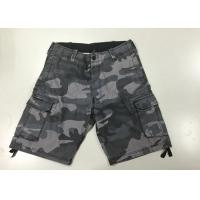 Quality Camouflage Short Work Pants , Mens Black Combat Trousers For Police  / Army for sale