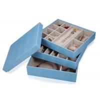Wholesale Composite leather wooden frame large jewellery storage box for rings earrings necklace from china suppliers