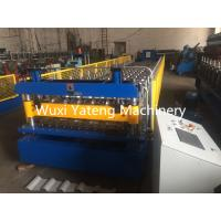 Wholesale Fast Speed Roof Panel Roll Forming Machine , PLC Control System Corrugated Sheet Making Machine from china suppliers