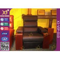 Wholesale cinema room chairs home theater sectional couch pushing back