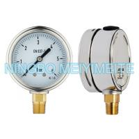 "Wholesale 4"" Fillable Matt Stainless Steel Pressure Gauge With Oil Cap CE Standard from china suppliers"