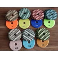 Wholesale two kinds 4inch 7steps dry polishing pad, honey cone for granite, colorful and green from china suppliers