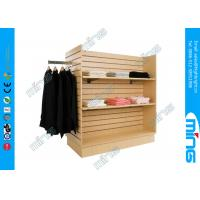 Wholesale H Shape Slatwall Garment Display Shelves with 48 Square Feet for Supermarket from china suppliers