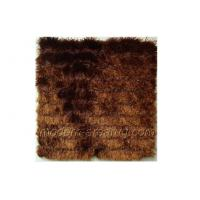 Wholesale Brown Polyester Luster Shaggy Pile Rug, Contemporary Solid Color Rugs Carpets Custom from china suppliers