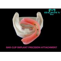Wholesale Bar And Clip / Sleeve Dental Attachments No Discolor Excellent Biocompatibility from china suppliers