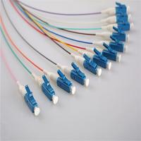Wholesale LC 12 Cores Single Mode Fiber Optic Cable , UPC fiber optic pigtail cables 0.9MM from china suppliers