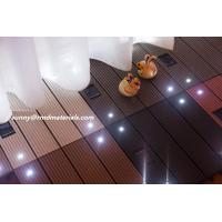 Buy cheap DIY balcony WPC decks Tile With Led light from wholesalers