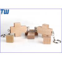 Wholesale Data Storage 8GB USB Pen Flash Drive Wooden Cross Free Keychain from china suppliers