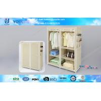Wholesale Foldable Bedroom Furniture Wardrobe Storage Racks with Sliding Mirror Doors from china suppliers
