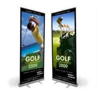 Wholesale VL-RS-11 Wide Base chromed plastic Roll up Banner Stands with double layer for promotion sales  from china suppliers