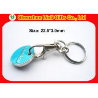 Wholesale Promotional trolley coin custom metal engraved keychains holder key ring LL-HK1004281 from china suppliers