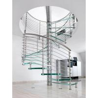 Wholesale High Quality Spiral Staircase with Glass Tread and Stainless Steel Handrail from china suppliers