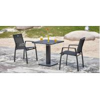 Wholesale Outdoor Metal Wicker Bistro Table And Chairs , Aluminum Bistro Set from china suppliers